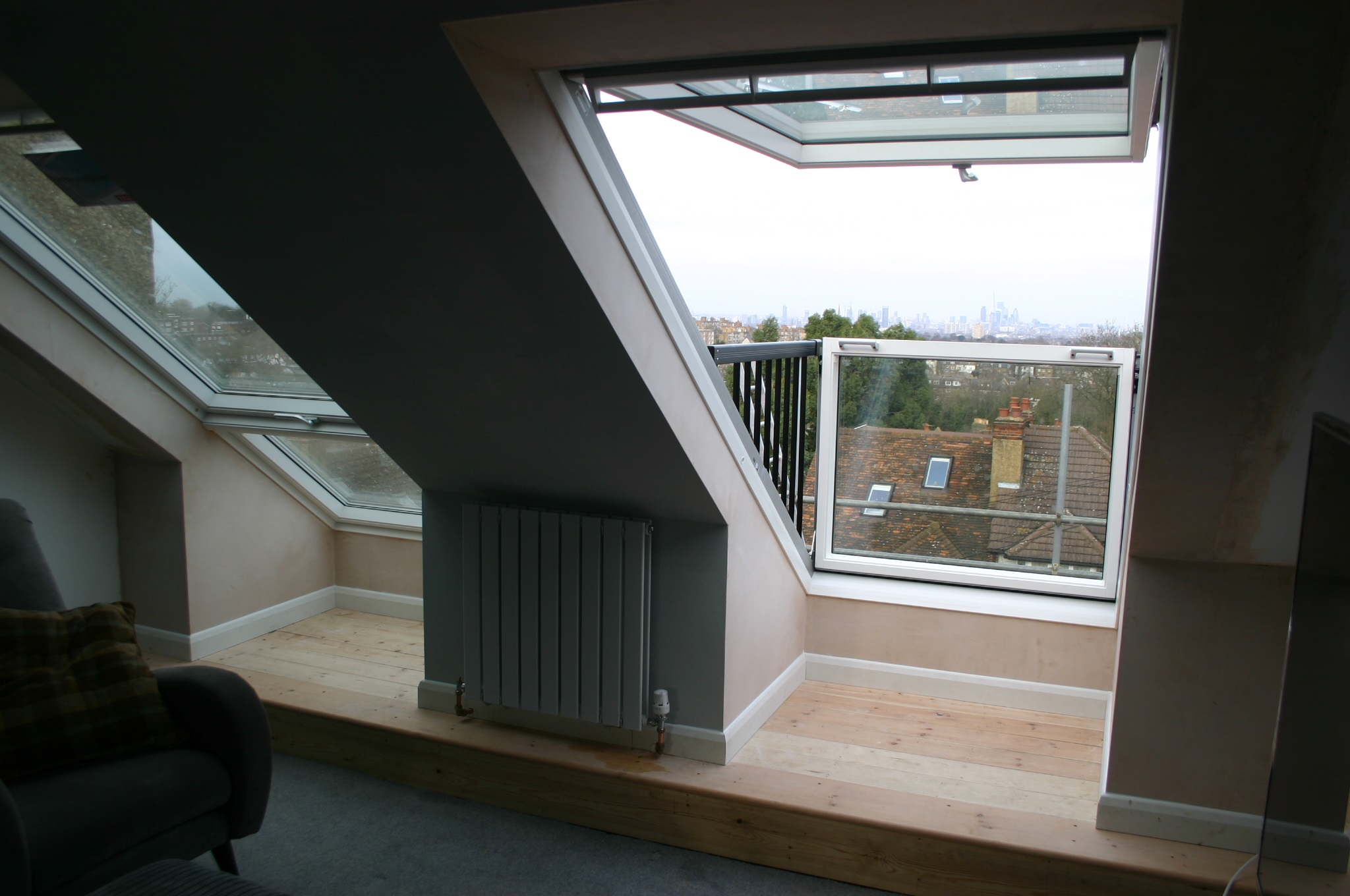 Velux cabrio balcony installers for Balcony window